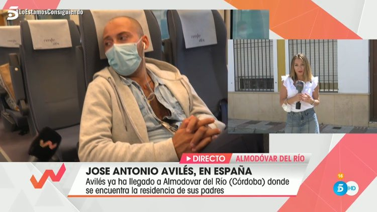 José Antonio Avilés durante el viaje de Madrid a Córdoba