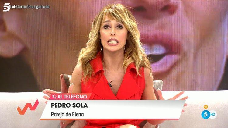 Emma García durante su conversación con Pedro Solá