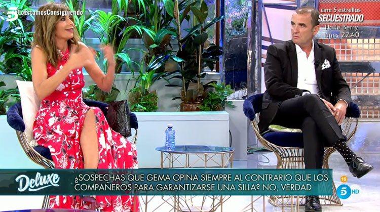 Gema López y Antonio Montero en 'Sábado Deluxe'