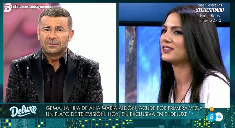 Jorge Javier Vázquez habla con la hija de Ana María Aldón en 'Sábado Deluxe'