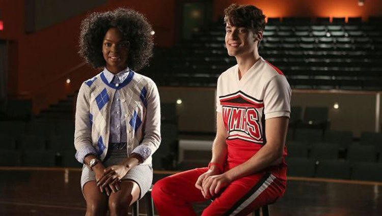Samantha Ware en un fotograma de 'Glee'