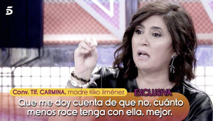 La madre de Kiko Jiménez no tolera a Sofía Suescun | Foto: Telecinco.es