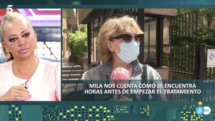Belén Esteban, muy emocionada al hablar de Mila Ximénez | Foto: Telecinco.es