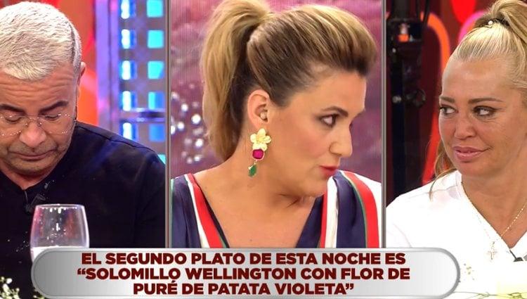Belén y Jorge escuchan las valoraciones de su plato | Foto: telecinco.es