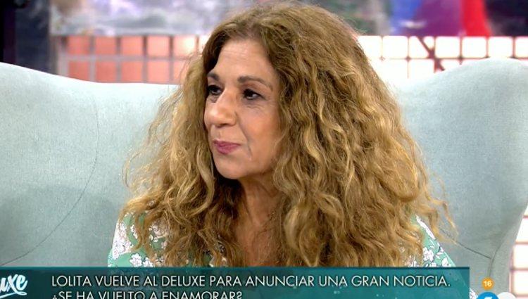 Lolita durante su entrevista | Foto: telecinco.es
