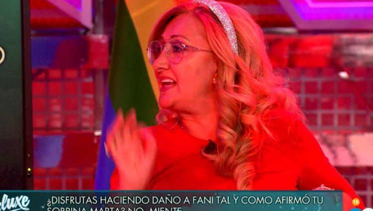 Maite contando sus vivencias | Foto: telecinco.es