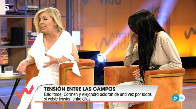 Carmen Borrego y Alejandra Rubio muestran su complicidad en 'Viva la vida'