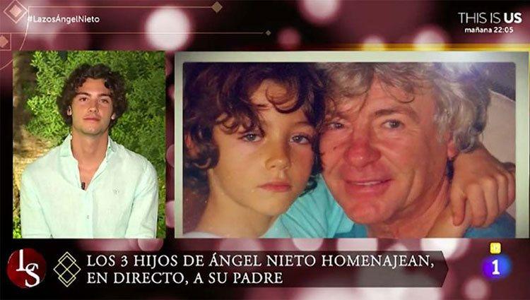 Hugo Nieto hablando de su padre en 'Lazos de sangre'/ Foto: La 1