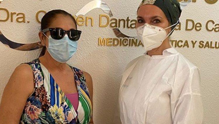 Isabel Pantoja en la clínica   Instagram