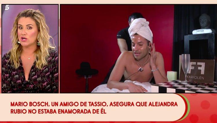 Mario Bosch hablando de Alejandra Rubio / Telecinco.es