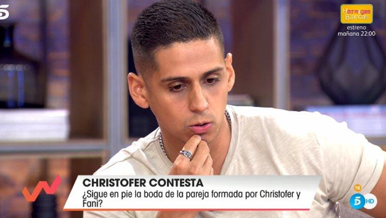 Christofer explica la situación | Foto: telecinco.es