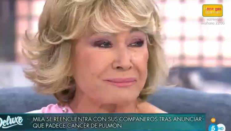 Mila Ximénez ha entrado muy emocionada al programa | Foto: telecinco.es