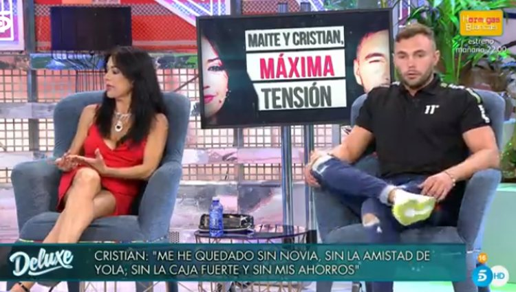 Cristian y Maite discuten en 'Sábado Deluxe' | Foto: telecinco.es