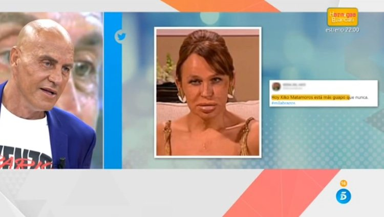 Matamoros viendo los memes sobre su cara / Telecinco.es