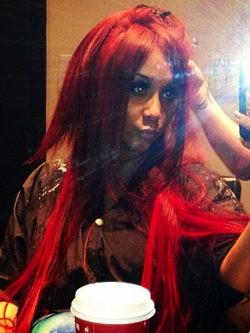 Snooki con pelo rojo Foto/Twitter
