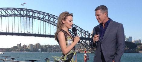 Kylie Minogue ensayando para la gala de Fin de Año