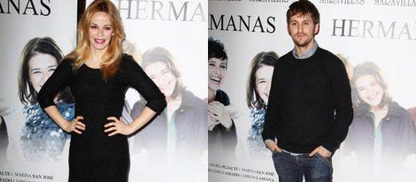 María Adánez y Raúl Arévalo en el estreno de 'Hermanas'