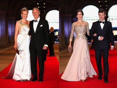 Los Príncipes de Bélgica y los Príncipes de Dinamarca