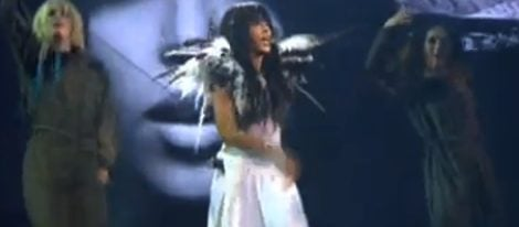 Loreen durante su actuación
