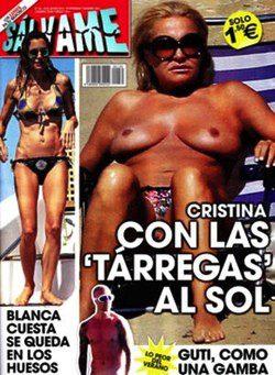 Cristina Tárrega Pillada En Topless Durante Sus Vacaciones En Cádiz