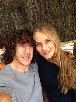 Carles Puyol y Vanesa Lorenzo