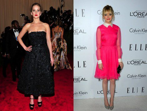 Las actrices Jennifer Lawrence y Emma Stone