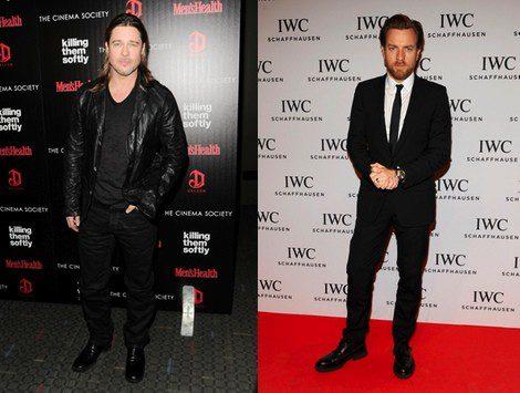 Brad Pitt y Ewan McGregor, en la lista de los 50 actores más sexys del cine