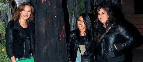 Jessica Bueno, Anabel Alonso y Chabelita en una fiesta de Halloween