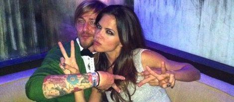 Romina Belluscio y Guti en una foto de Twitter