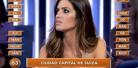 Sara Carbonero en 'Pasapalabra'