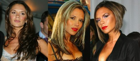 Análisis de los cambios de look de Victoria Beckham