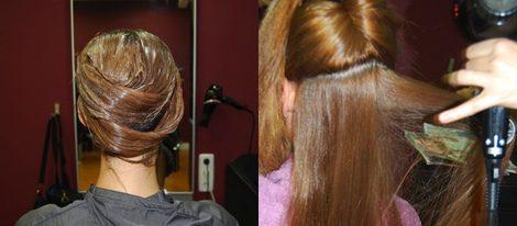 Recogerse el pelo y acto seguido aplicar un golpe de calor