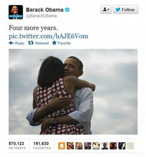 El tuit más popular de Obama