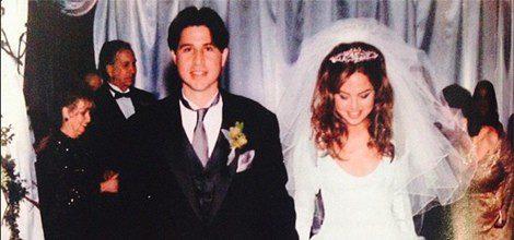 Rachel Zoe y Rodger Berman el día de su boda/Instagram