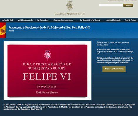 Casa Real anima a felicitar al Rey Felipe VI con motivo de la proclamación | Casa Real Española