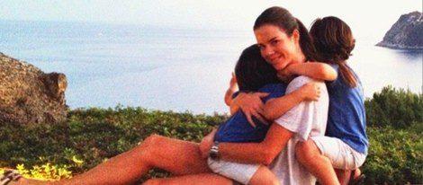 Amelia Bono con sus hijos Jorge y Manuel / Foto: Instagram