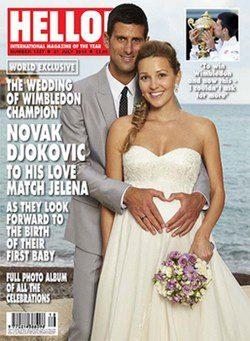 Novak Djokovic y Jelena Ristic recién casados / Hello!
