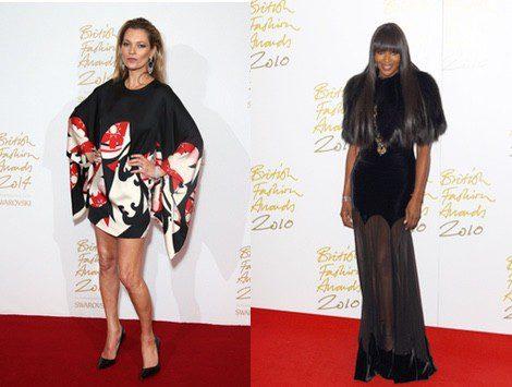 Las top models Kate Moss y Naomi Campbell acuden a los 'British Fashion Awards 2014'