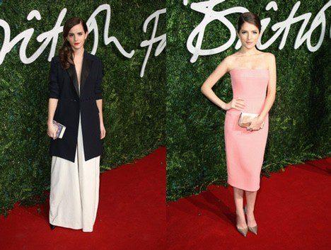 Las actrices Emma Watson y Anna Kendrick acuden a los 'British Fashion Awards 2014'