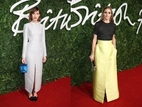 Las 'it girls' Alexa Chung y Olivia Palermo acuden a los 'British Fashion Awards 2014'