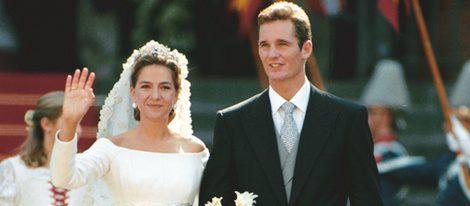 Los Duques de Palma el día de su boda en 1997 en Barcelona
