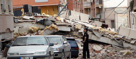 Destrozos causados por el terremoto de Lorca