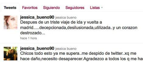 Mensajes de Twitter de Jessica Bueno