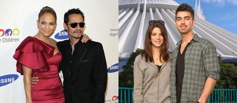Jennifer Lopez y Marc Anthony; Ashley Greene y Joe Jonas
