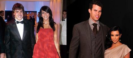 Fernando Alonso y Raquel del Rosario; Kim Kardashian y Kris Humphries