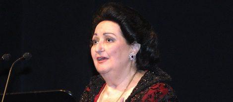 Montserrat Caballé durante su actuación en El Liceo