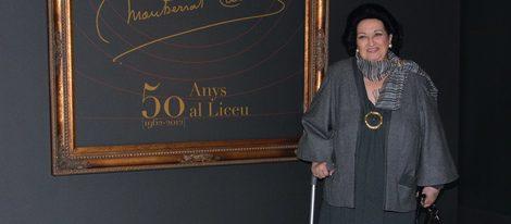Montserrat Caballé en la exposición sobre su carrera en El Liceo