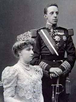 Los Reyes de España Alfonso XIII y Victoria Eugenia