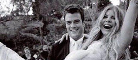 Fergie compartió esta instatánea en su cuenta de Instagram para felicitar a su marido por su sexto aniversario de boda