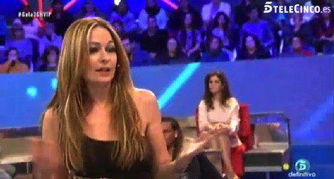 Olvido Hormigos en plató tras su expulsión / Telecinco.es
